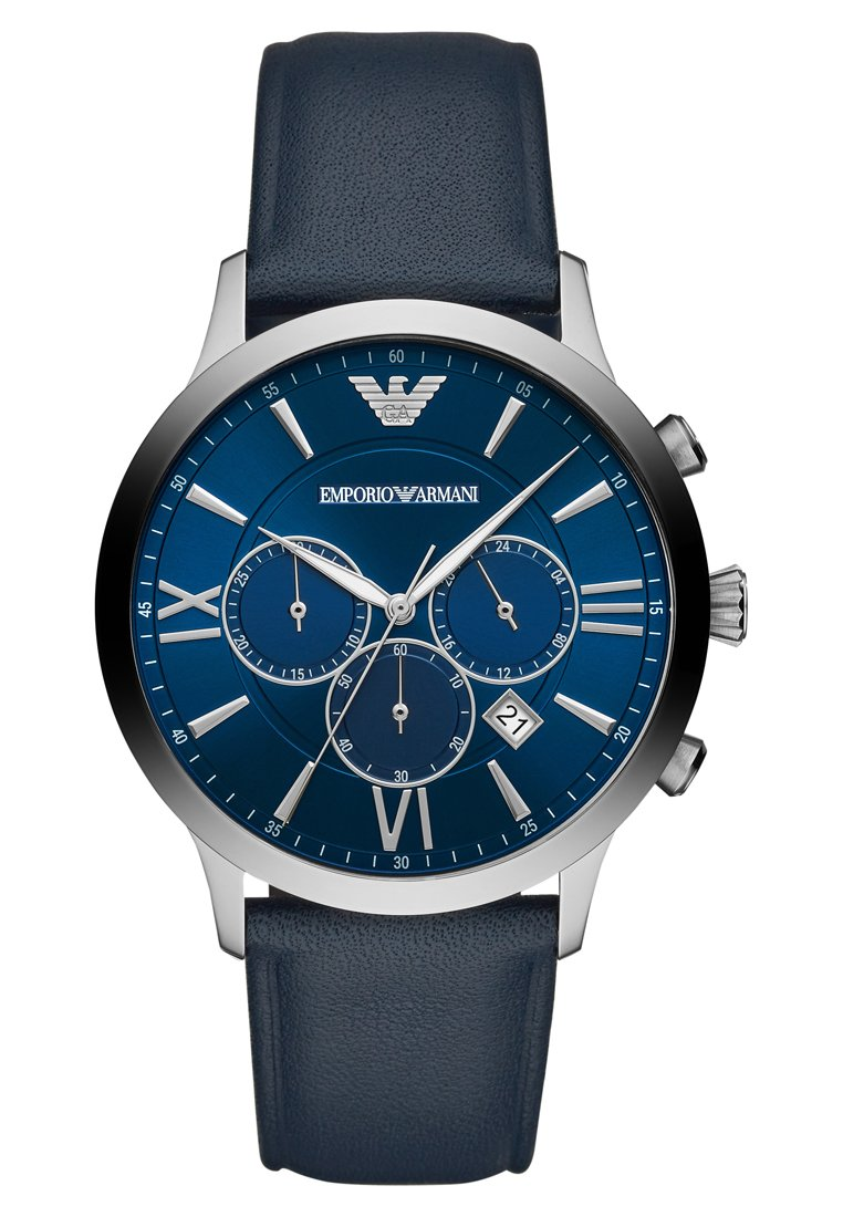 Emporio Armani - Chronograph watch - blau