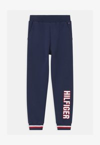 Tommy Hilfiger - TRACK UNISEX - Pyjama bottoms - blue - 0