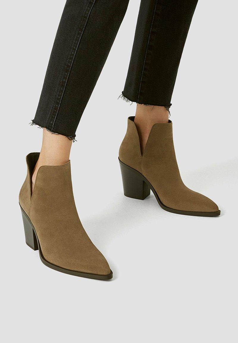 PULL&BEAR - Kotníková obuv - sand
