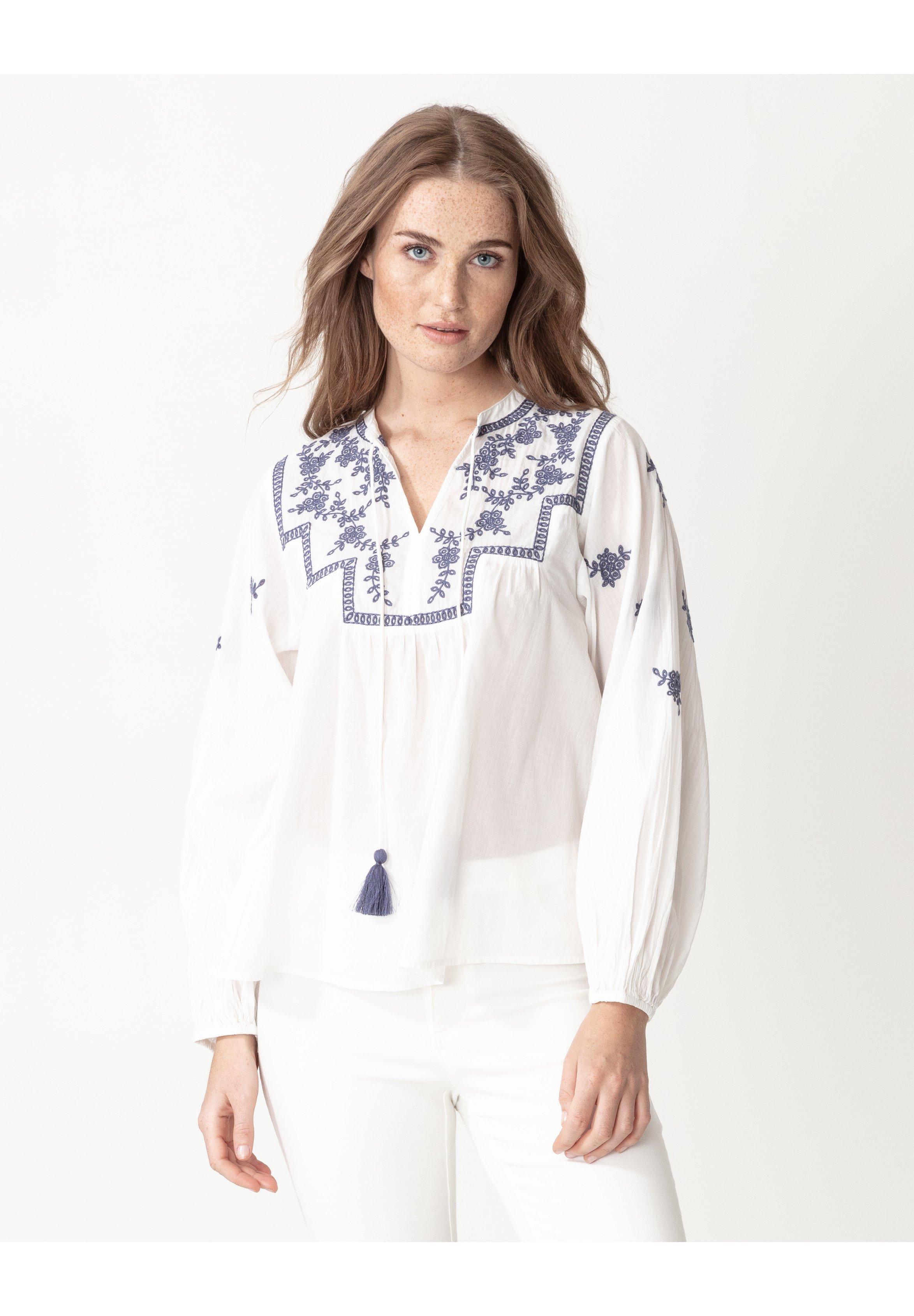 Indiska MINNA - Blouse - white - Tops & T-shirts Femme XoKnk