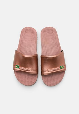 SLIDE BRASIL UNISEX - Pool slides - crocus rose/golden blush
