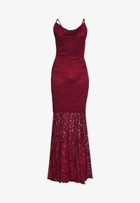WAL G. - COWL NECK DRESS - Suknia balowa - wine - 3