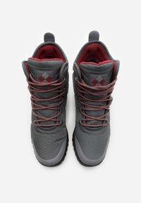 Columbia - FAIRBANKS OMNI-HEAT - Winter boots - grey steel/red jasper - 3