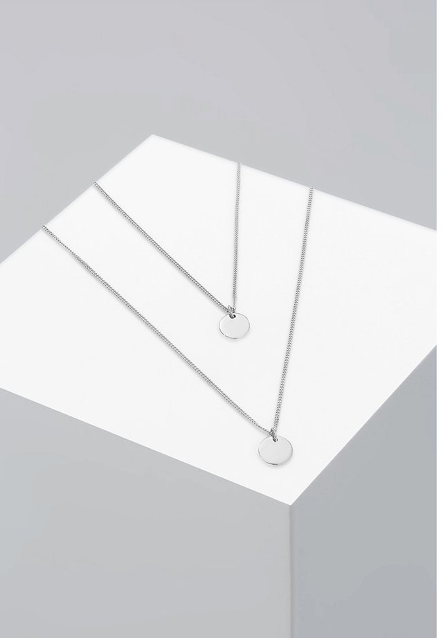 LAYER LOOK PLATE - Necklace - silver-coloured