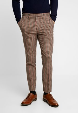 HOUSE CHECK TROUSERS - Suit trousers - brown