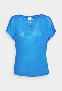 Reebok - BURNOUT TEE - Print T-shirt - blue - 3
