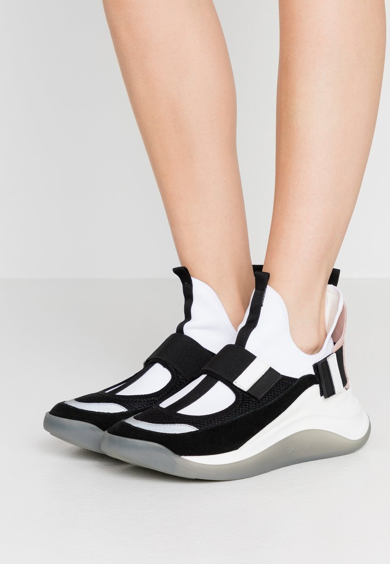 Sportmax - ZOE - High-top trainers - rosa/bianco/nero