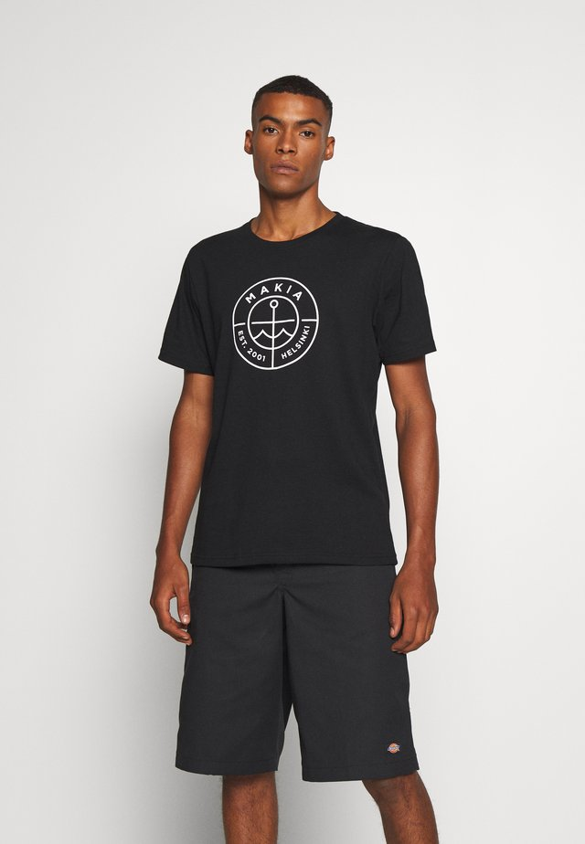 RE-SCOPE - T-shirt con stampa - black