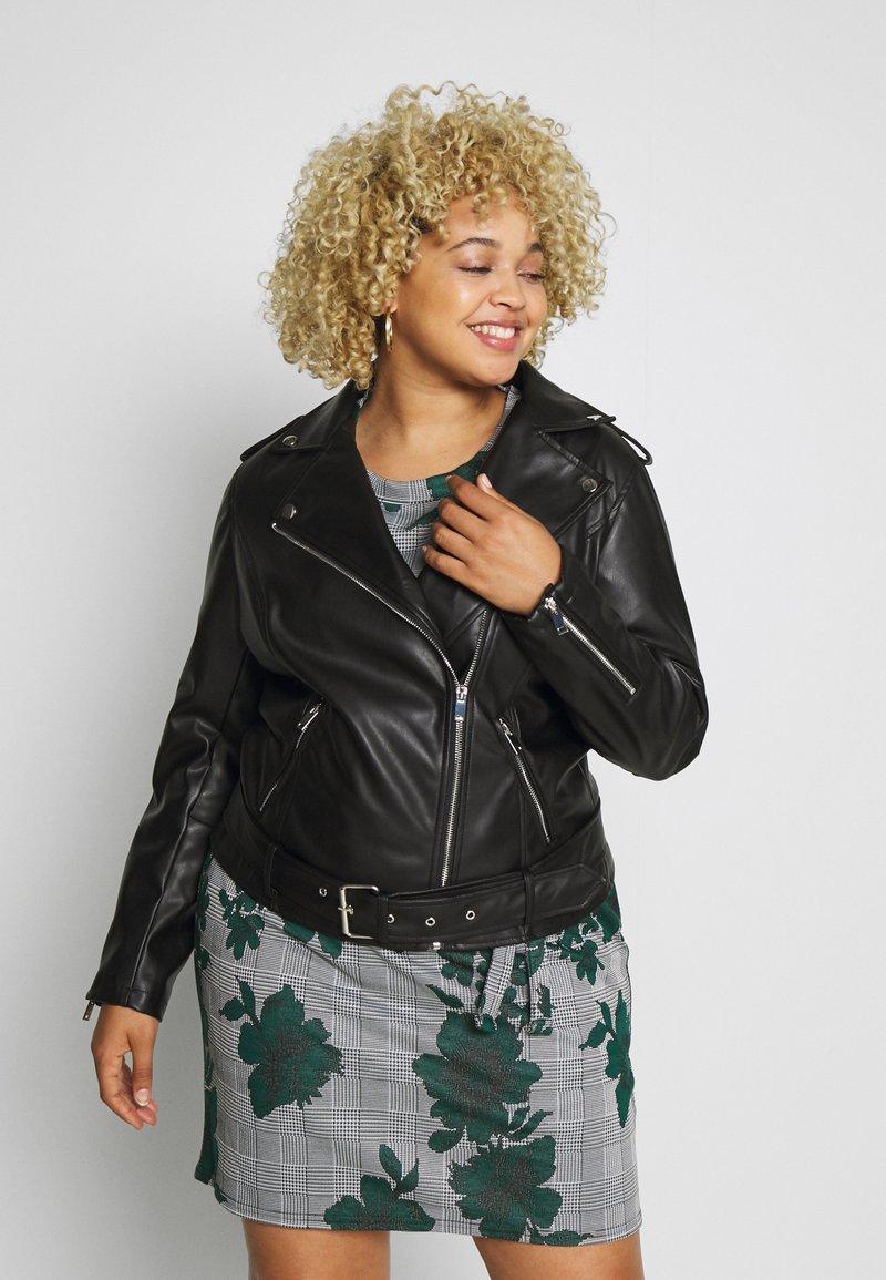 Glamorous Curve - JACKET - Faux leather jacket - black