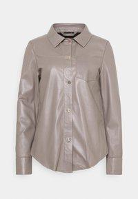 Oakwood - ANAE - Leather jacket - mastic - 4
