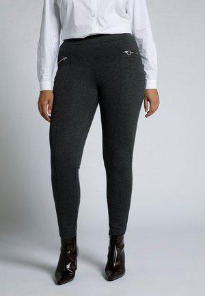 Trousers - dunkelgrau melange