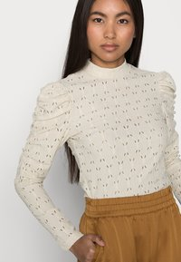 ONLY Petite - ONLROSALINE HIGHNECK PUFF - Blouse - pumice stone - 3