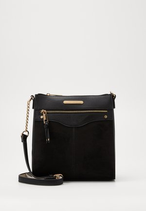 EMBOSS STRUCTURED MESS - Borsa a tracolla - black