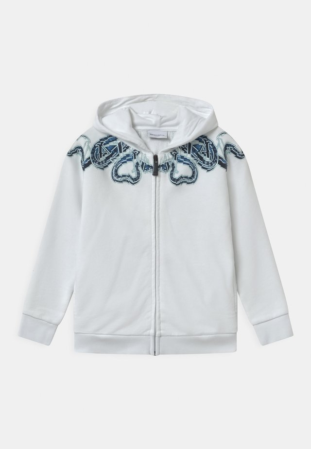 FULL ZIP SNAKE - Zip-up hoodie - bianco