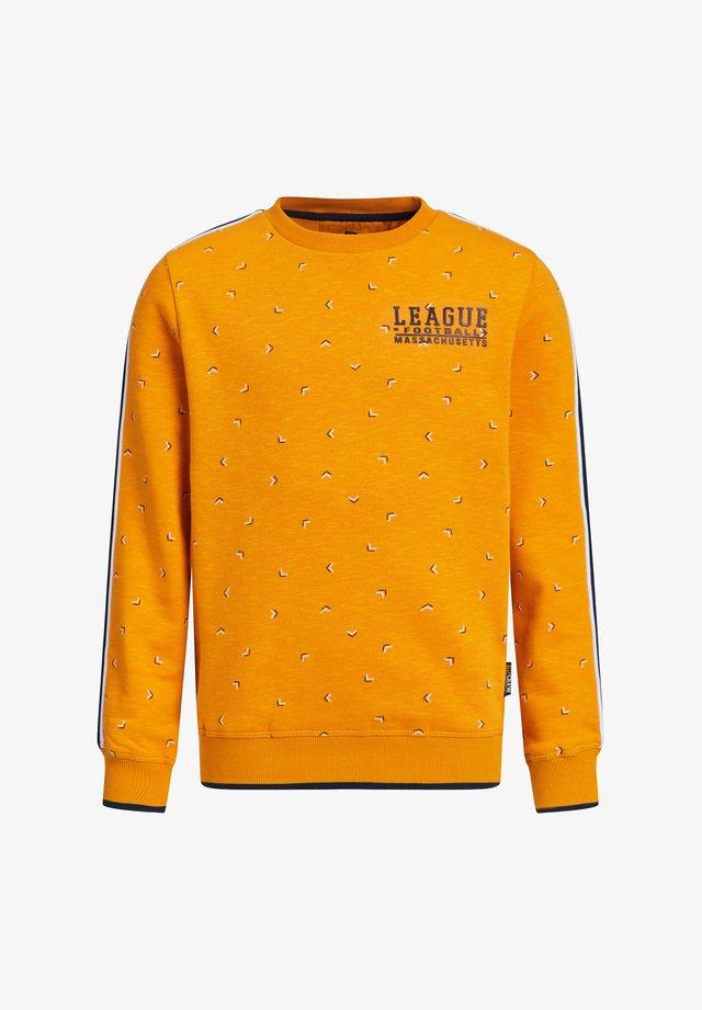 MET DESSIN EN TAPEDETAIL - Sweater - orange