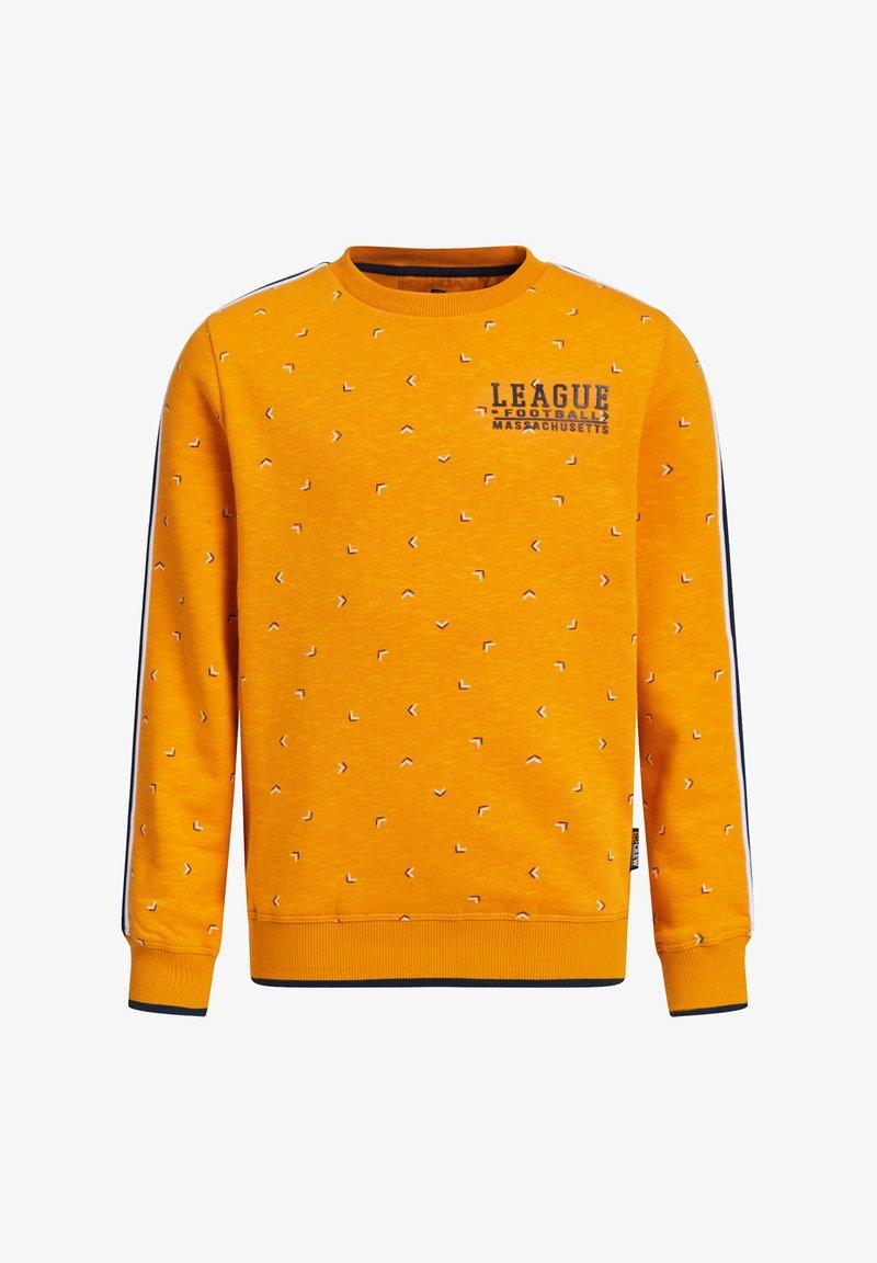 WE Fashion - MET DESSIN EN TAPEDETAIL - Sweatshirt - orange