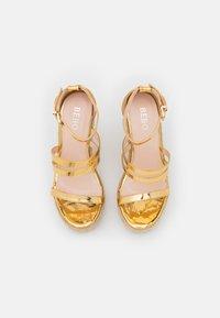BEBO - MIRELLE - Platform sandals - gold - 5