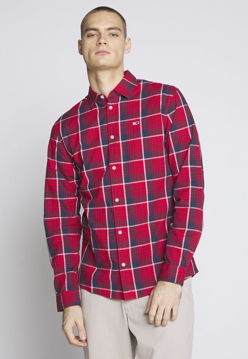 Tommy Jeans - Shirt - racing red/multi-coloured