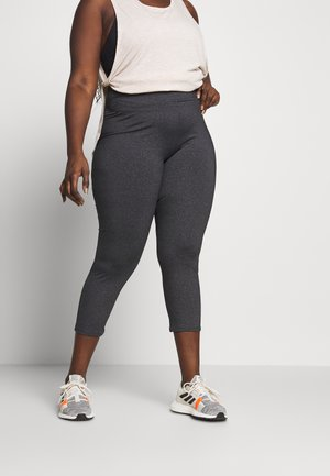 CURVE ACTIVE HIGHWAIST CORE - Tights - charcoal marle