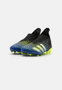 adidas Performance - PREDATOR FREAK .3 LL FG UNISEX - Moulded stud football boots - core black/footwear white/solar yellow - 1