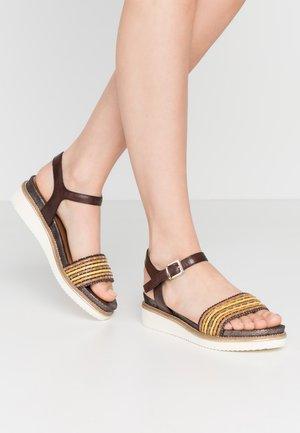 Platform sandals - cafe