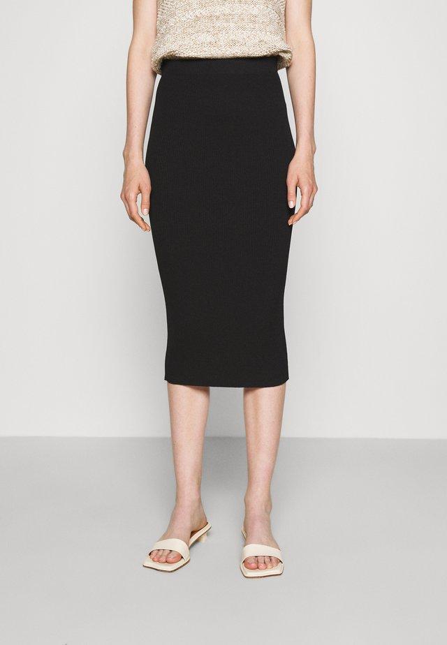 SANIA - Pencil skirt - jet black