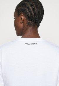 KARL LAGERFELD - MINI BALLOON LOGO TEE - Print T-shirt - white - 3