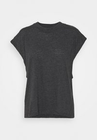 Cotton On Body - LIFESTYLE SLOUCHY MUSCLE - Basic T-shirt - black wash - 0