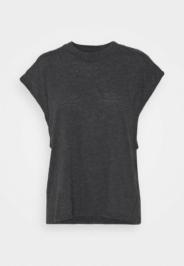 LIFESTYLE SLOUCHY MUSCLE - T-shirt basic - black wash