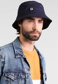 Fila - BUCKET HAT - Hat - black iris - 1