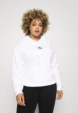 MONOGRAM HOODIE - Sweatshirt - bright white