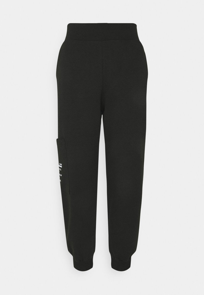 Trendyol - SIYAH - Tracksuit bottoms - black