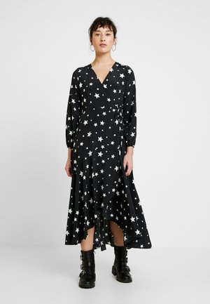 STAR WRAP MIDI DRESS - Maxi dress - black