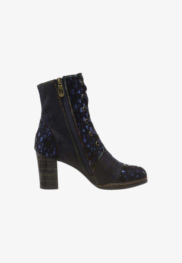 Lace-up ankle boots - blau