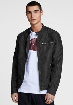 JJEROCKY JACKET - Faux leather jacket - black