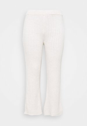 WIDE LEG TROUSER - Bukse - oatmeal