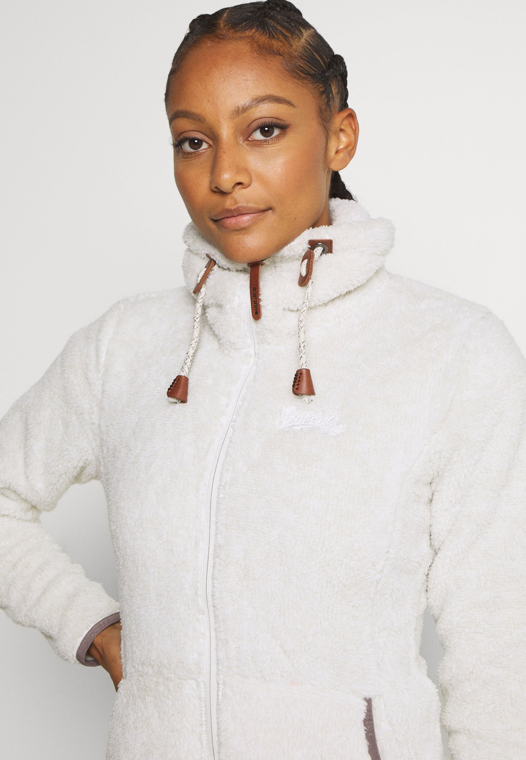 Icepeak COLONY - Fleece jacket - natural white gjgx1