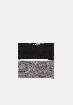 2 PACK - Ear warmers - black/grey