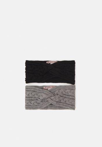 2 PACK - Ørevarmere - black/grey