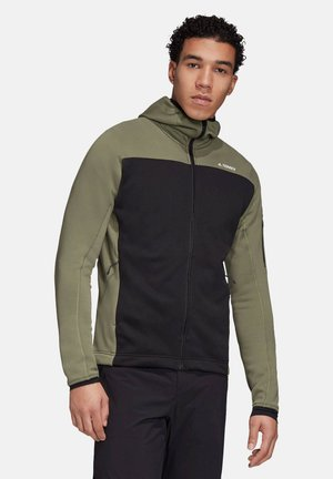 "HERREN FLEECEJACKE MIT KAPUZE ""TERREX STOCKHO - Fleece jacket - legacy green/black"