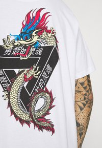 Brave Soul - DRACO - T-shirt con stampa - white - 4