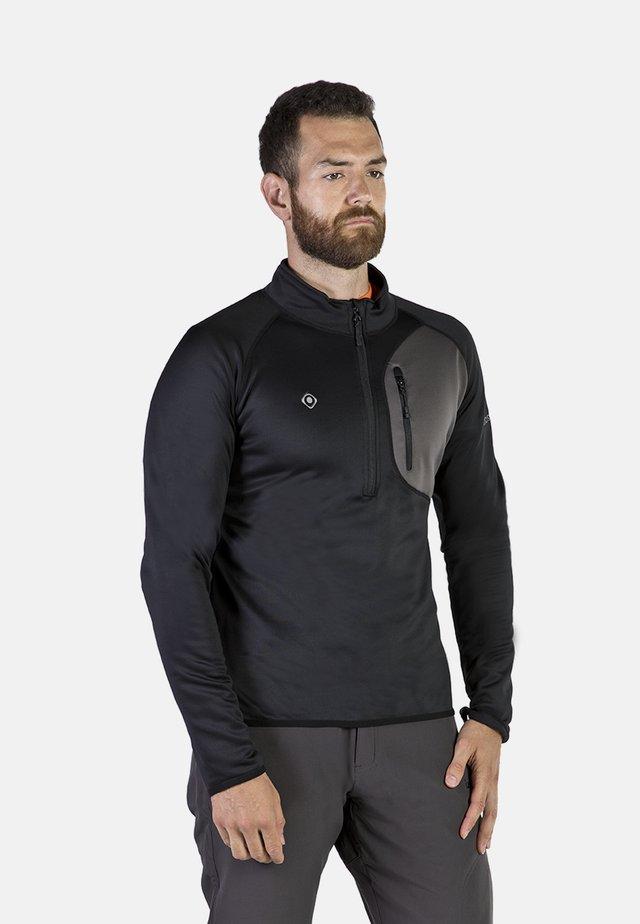 LALOC - T-shirt sportiva - black/dark grey