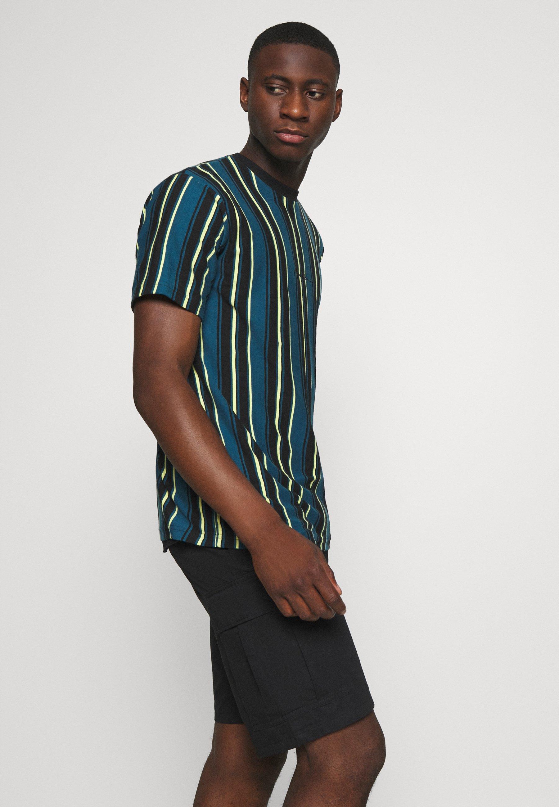 Mennace Multi Vertical Stripe - T-shirts Med Print Blue/blå