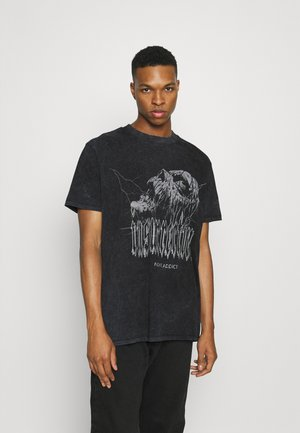 UNISEX - T-shirt print - acid wash black
