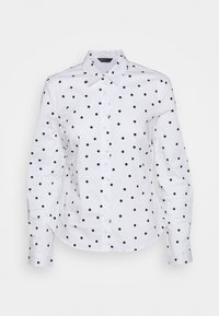 Marks & Spencer London - SPOT FITTED - Button-down blouse - offwhite - 5