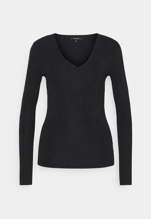 JOLIE VNECK - Long sleeved top - black