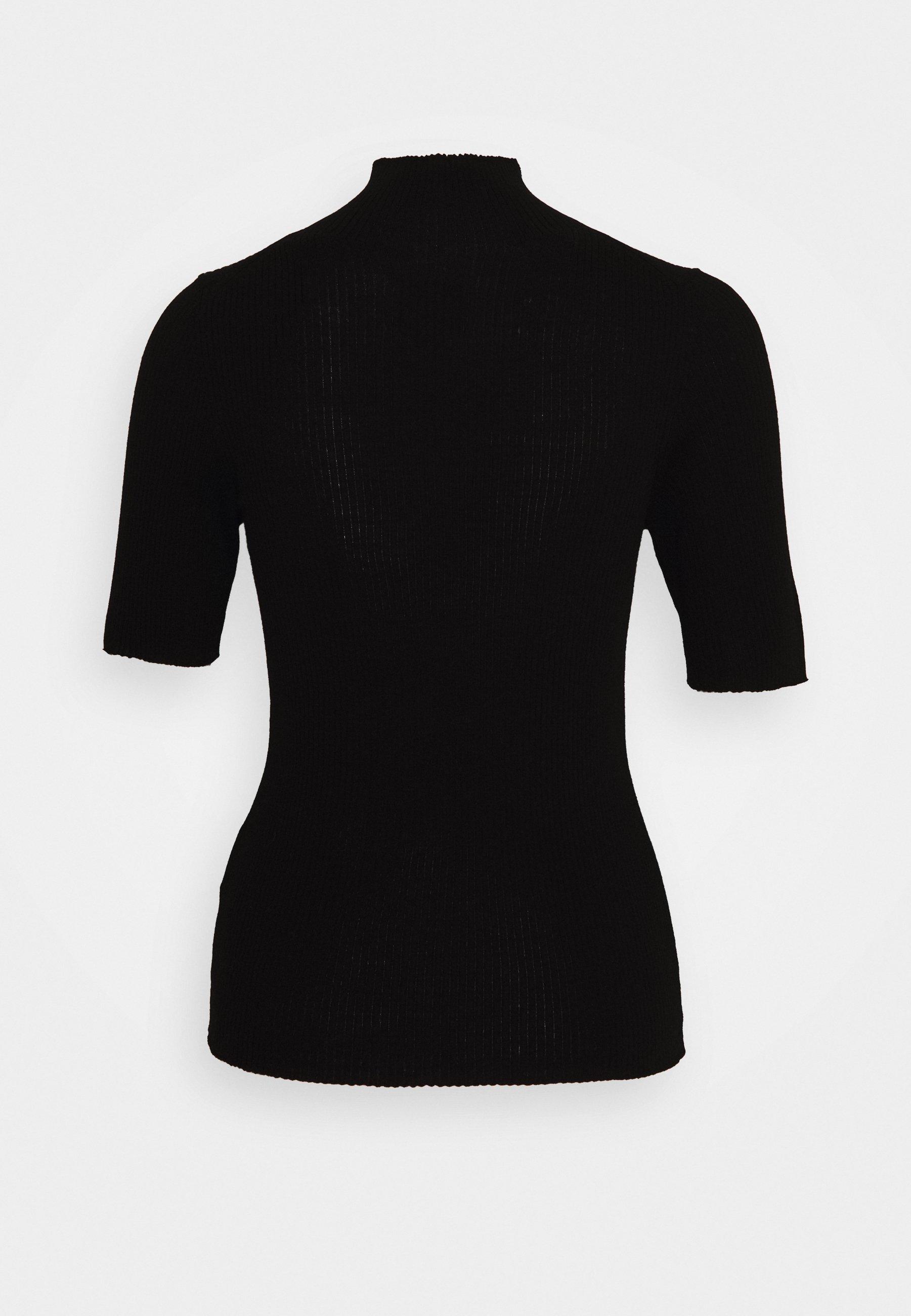 Marc O'polo Pure Brisbane Shortsleeve Turtleneck - T-shirts Med Print Black/svart