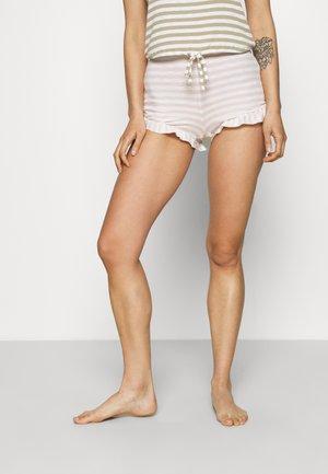 SLEEP RUFFLE BOXER - Pyjama bottoms - heather country pink/sand