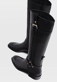 Stradivarius - Cowboy/Biker boots - black - 3