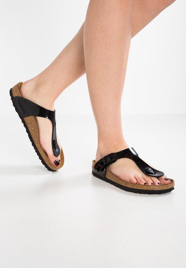 GIZEH - T-bar sandals - schwarz
